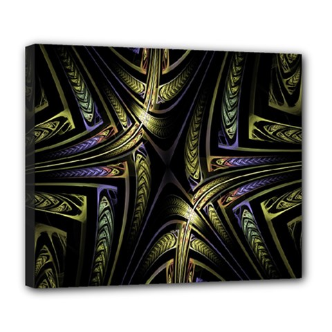 Fractal Braids Texture Pattern Deluxe Canvas 24  X 20   by Celenk