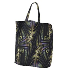 Fractal Braids Texture Pattern Giant Grocery Zipper Tote by Celenk