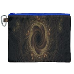 Beads Fractal Abstract Pattern Canvas Cosmetic Bag (xxl) by Celenk