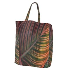 Leaf Colorful Nature Orange Season Giant Grocery Zipper Tote by Celenk
