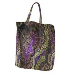 Abstract Fractal Art Design Giant Grocery Zipper Tote by Celenk