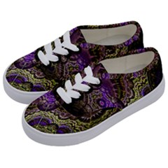 Abstract Fractal Art Design Kids  Classic Low Top Sneakers by Celenk