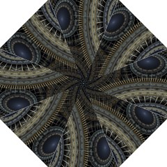Fractal Spikes Gears Abstract Straight Umbrellas by Celenk