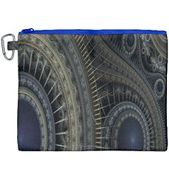 Fractal Spikes Gears Abstract Canvas Cosmetic Bag (xxxl) by Celenk