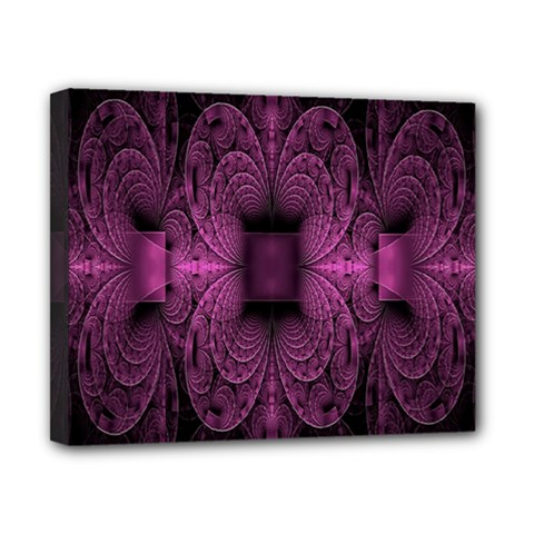 Fractal Magenta Pattern Geometry Canvas 10  X 8  by Celenk