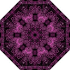 Fractal Magenta Pattern Geometry Golf Umbrellas by Celenk