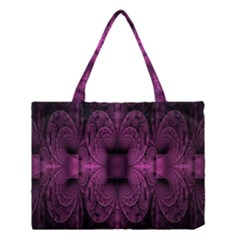 Fractal Magenta Pattern Geometry Medium Tote Bag by Celenk