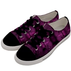 Fractal Magenta Pattern Geometry Men s Low Top Canvas Sneakers by Celenk