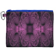 Fractal Magenta Pattern Geometry Canvas Cosmetic Bag (xxl) by Celenk