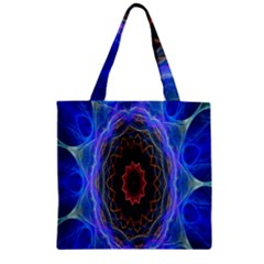 Cosmic Flower Kaleidoscope Art Zipper Grocery Tote Bag by Celenk