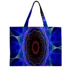 Cosmic Flower Kaleidoscope Art Zipper Mini Tote Bag by Celenk