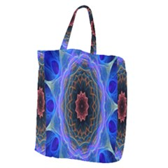 Cosmic Flower Kaleidoscope Art Giant Grocery Zipper Tote by Celenk