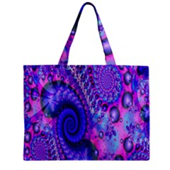 Fractal Fantasy Creative Futuristic Zipper Mini Tote Bag by Celenk