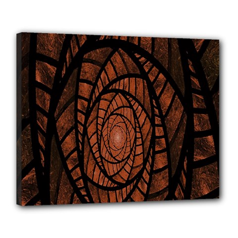 Fractal Red Brown Glass Fantasy Canvas 20  X 16  by Celenk