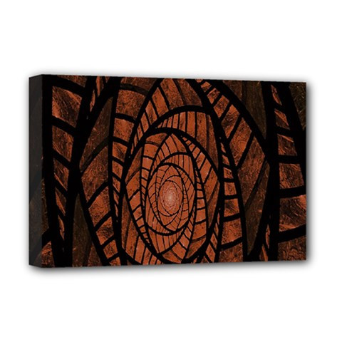 Fractal Red Brown Glass Fantasy Deluxe Canvas 18  X 12   by Celenk