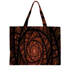 Fractal Red Brown Glass Fantasy Zipper Large Tote Bag by Celenk