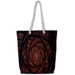 Fractal Red Brown Glass Fantasy Full Print Rope Handle Bag (small) by Celenk