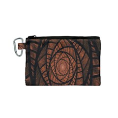 Fractal Red Brown Glass Fantasy Canvas Cosmetic Bag (small) by Celenk