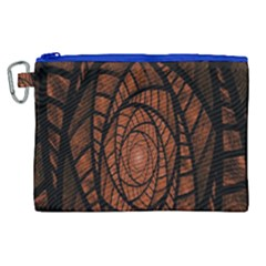 Fractal Red Brown Glass Fantasy Canvas Cosmetic Bag (xl) by Celenk