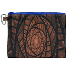 Fractal Red Brown Glass Fantasy Canvas Cosmetic Bag (xxl) by Celenk