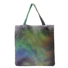 Frosted Glass Background Psychedelic Grocery Tote Bag by Celenk