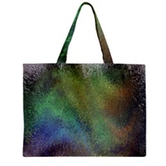 Frosted Glass Background Psychedelic Zipper Mini Tote Bag by Celenk