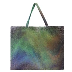 Frosted Glass Background Psychedelic Zipper Large Tote Bag by Celenk