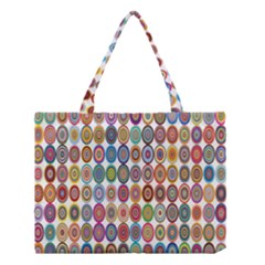 Decorative Ornamental Concentric Medium Tote Bag by Celenk