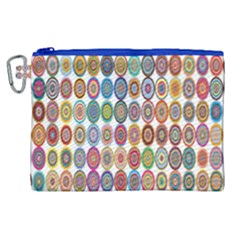 Decorative Ornamental Concentric Canvas Cosmetic Bag (xl) by Celenk