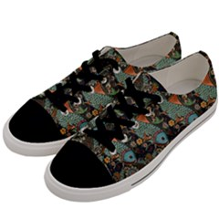 Pattern Background Fish Wallpaper Men s Low Top Canvas Sneakers by Celenk