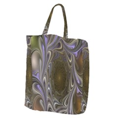 Fractal Waves Whirls Modern Giant Grocery Zipper Tote by Celenk