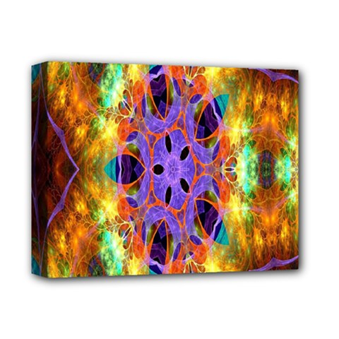 Kaleidoscope Pattern Ornament Deluxe Canvas 14  X 11  by Celenk