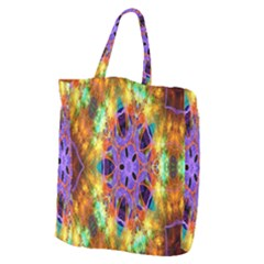Kaleidoscope Pattern Ornament Giant Grocery Zipper Tote by Celenk