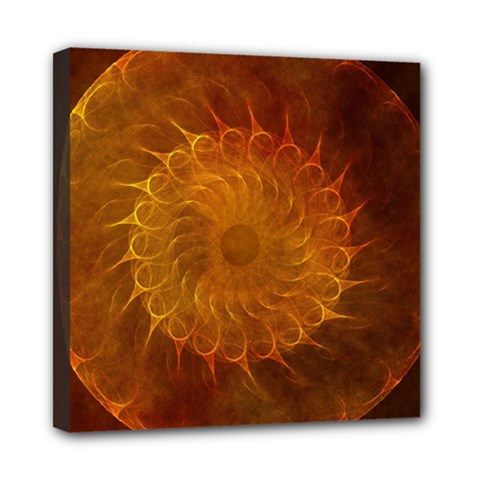 Orange Warm Hues Fractal Chaos Mini Canvas 8  X 8  by Celenk