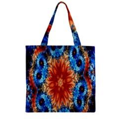 Alchemy Kaleidoscope Pattern Zipper Grocery Tote Bag by Celenk