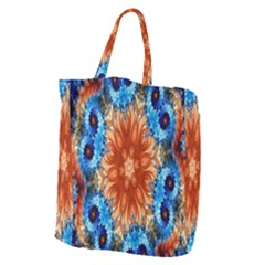 Alchemy Kaleidoscope Pattern Giant Grocery Zipper Tote by Celenk