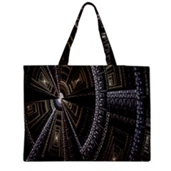 Fractal Circle Circular Geometry Medium Tote Bag by Celenk