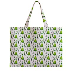 Watercolor Christmas Tree Zipper Mini Tote Bag by patternstudio