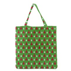 Christmas Tree Grocery Tote Bag by patternstudio