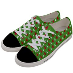 Christmas Tree Women s Low Top Canvas Sneakers by patternstudio