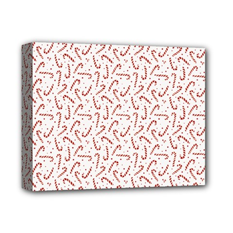 Candy Cane Deluxe Canvas 14  X 11  by patternstudio