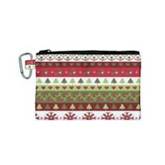 Christmas Spirit Pattern Canvas Cosmetic Bag (small) by patternstudio