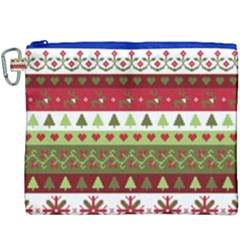 Christmas Spirit Pattern Canvas Cosmetic Bag (xxxl) by patternstudio
