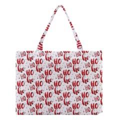 Ho Ho Ho Santaclaus Christmas Cheer Medium Tote Bag by patternstudio