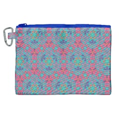Bereket Pink Blue Canvas Cosmetic Bag (xl) by Cveti