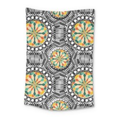 Beveled Geometric Pattern Small Tapestry by linceazul