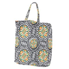 Beveled Geometric Pattern Giant Grocery Zipper Tote by linceazul