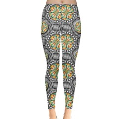 Beveled Geometric Pattern Leggings  by linceazul