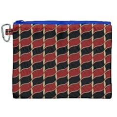 Leaves Red Black Canvas Cosmetic Bag (xxl)