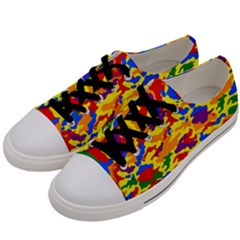 Homouflage Gay Stealth Camouflage Men s Low Top Canvas Sneakers by PodArtist